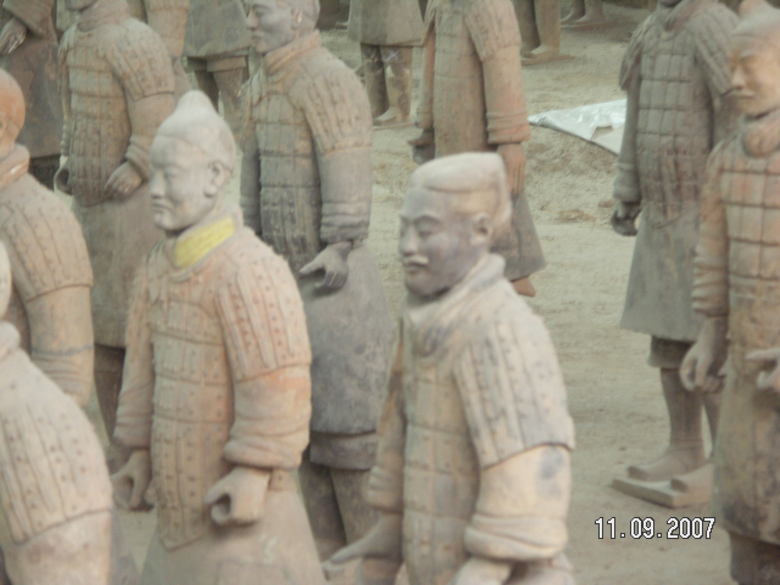 Xian-the Terra Cota soldiers were unbelievable. First of all that they were created-then preserved-found and now being preserved again! It is interesting that the pieces were once colorful. The exposure to the air destroys the color, so in our efforts to recover and preserve them we have managed to lose some of the original beauty. However, it is still a spectacular site!