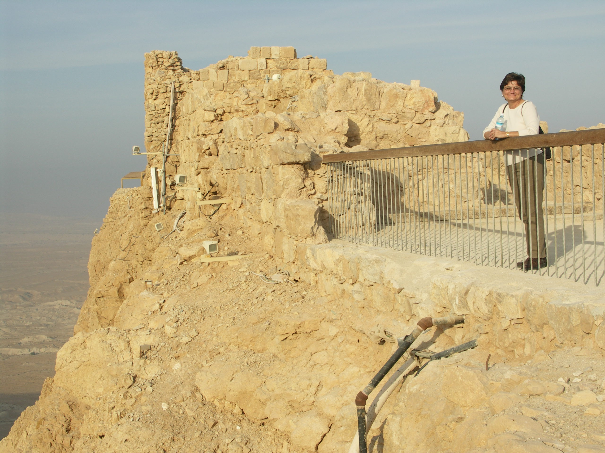 We road the tram to the top of Masada.  Here I am looking out over the barren land below.  Hard not to feel the quite of that place and the isolation.  There are sacred places in this world and this is one.