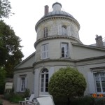 The rear view of the main house at Le Belvedere in Blere.