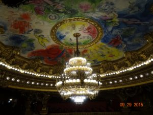 The chandelier and centre motif make for a breathtaking view...from the ground floor looking up, and from the boxes and galleries up high. What does it take to imagine this ceiling and then to execute that plan? I can only dream of such a gift! Feel privalaged to see it first hand.