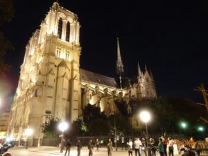 "Notre Dame...our landmark for ""home"" all week long. We could hear the chimes from our apartment and we passed by this beautiful place coming and going every day!"